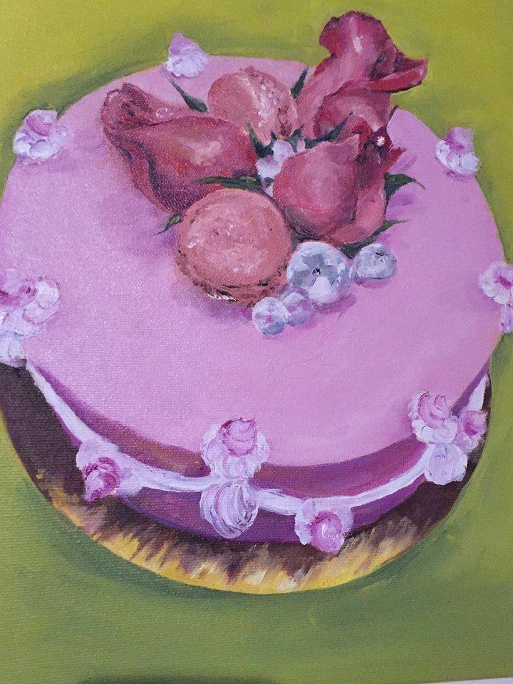 Cake. Oil painting. Art