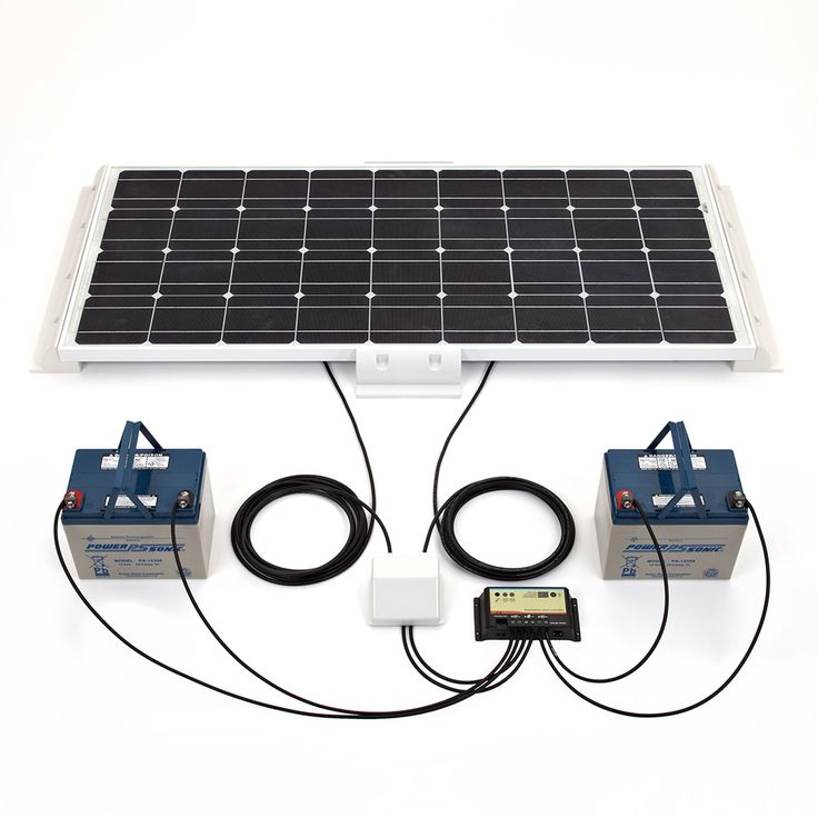 Biard white 100w solar panel kit 10 amp dual battery