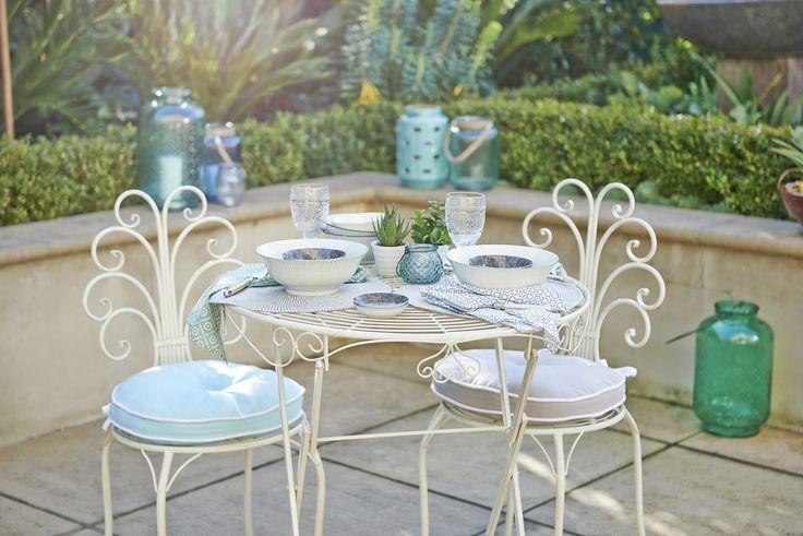 Mediterranean collection: garden party at dusk #outdoorliving #bedbathntable
