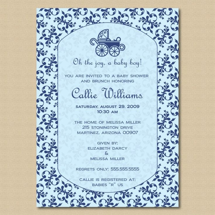 Baby Shower Invitations Wording For Boys: 10 Best Simple Design Baby Shower Invitations Wording
