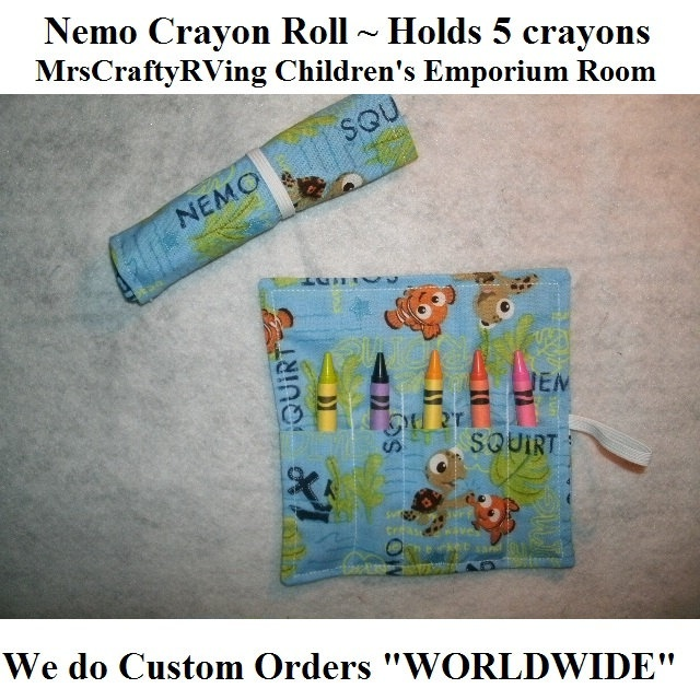 Finding Nemo Crayon Roll Party Favor