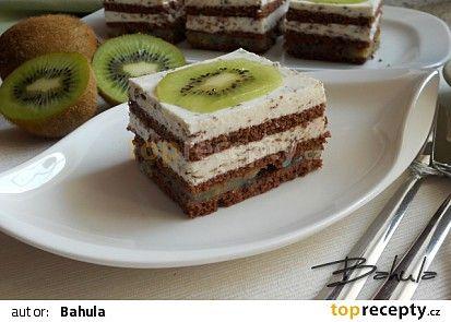 Kiwi řezy s krémem stracciatella recept - TopRecepty.cz
