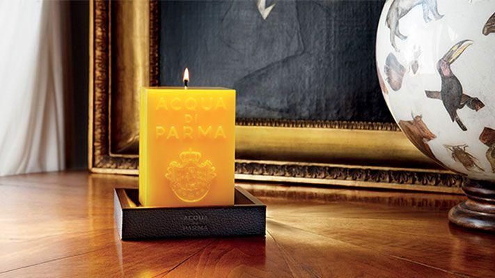candle yellow Acqua di Parma Candle holder design Sotano Studio