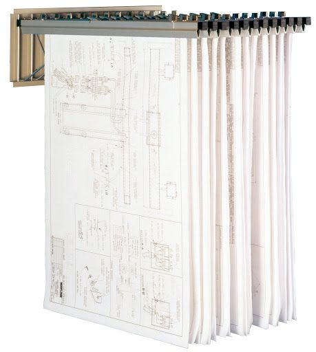 """VERTICAL FILE WALL RACK ( NO HANGARS OR CLAMPS) - 10 1/4""""H x 23 1/8""""L AVAILABLE IN SAND BEIGE   Office Furniture»STORAGE & SHELVING»METAL STORAGE"""