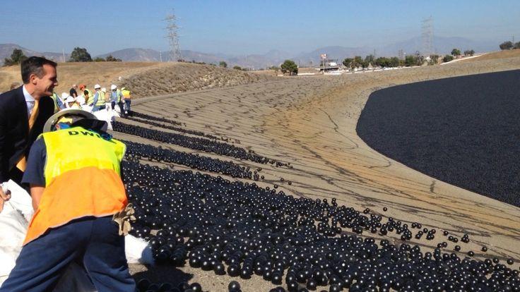 Несколько лет назад в водохранилище Лос-Анджелеса было помещено множество пластиковых шаров. Экологический эксперимент официально признан успешным.