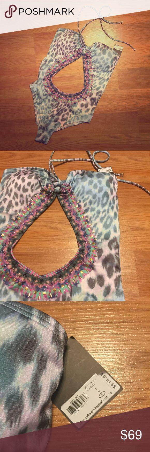 Victoria's Secret Swim Jeweled Monokini. Uniquely designed jeweled one piece swimsuit from Victoria's Secret Swim collection. Victoria's Secret Swim One Pieces