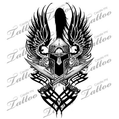 Marketplace Tattoo Tribal Spartan Armour #3169 | CreateMyTattoo.com