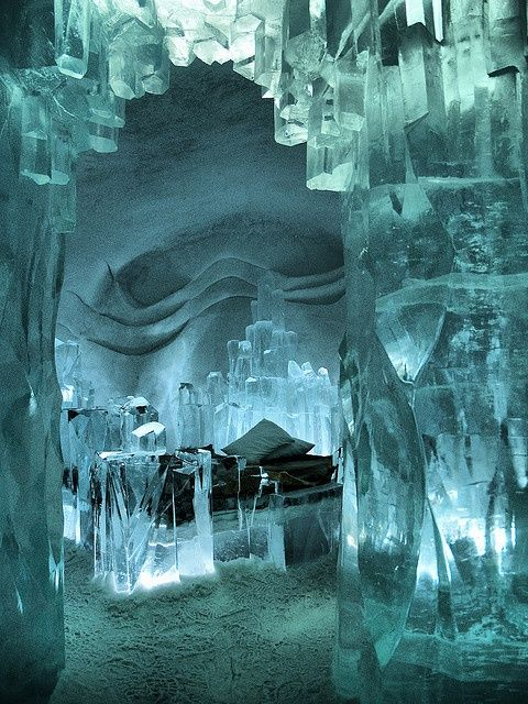 Ice Hotel in Kiruna, Sweden located in the winter sign Aquarius with the water sign Scorpio.