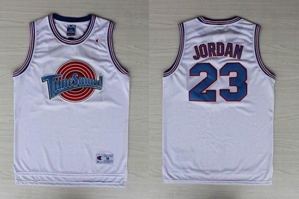 333fa06e4757e1 Michael Jordan 23 White Tune Squad Space Jam Movie Jersey