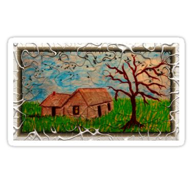 Little Cabin and Tree Sticker by StickerNuts