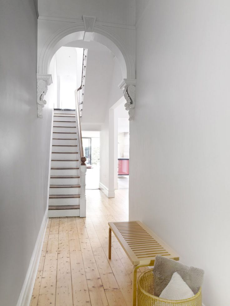 Gorgeous simple corridor, love the floors
