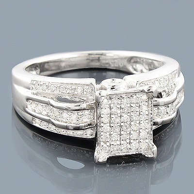 Nice This Sterling Silver Diamond Engagement Ring showcases carats of genuine diamonds and a luxurious rhodium Cheap Engagement RingsDiamond