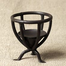 Fair Trade Handforged Iron Candle Stand #3