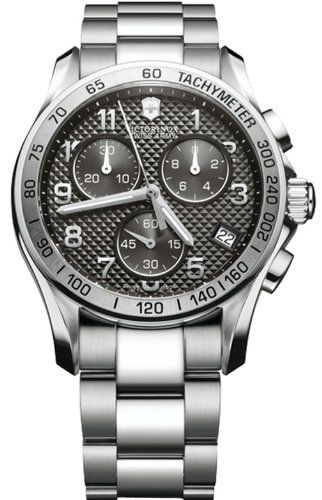Amazon.com: Victorinox Swiss Army Men's 241405 Chrono Classic PVD Coated Grey Dial Watch: Victorinox Swiss Army: Watches