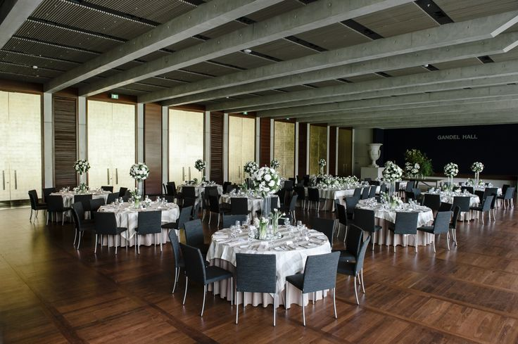 Wedding set-up at the National Gallery of Australia in Canberra. #canberra #wedding #weddingvenue #weddingflowers