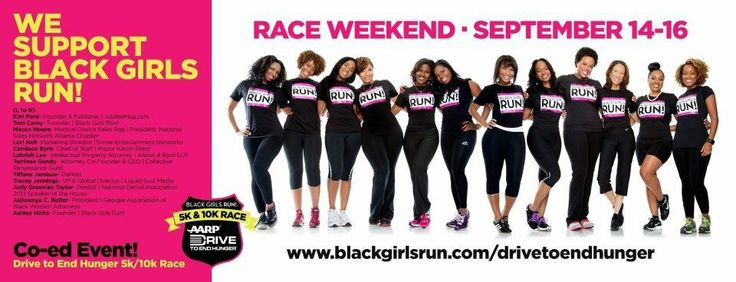 Black Girls RUN! Race to End Hunger Brand and Design Development - Delanie West Design Group 2012