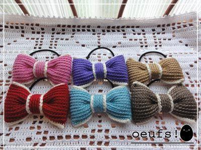 == oeufs! == かぎ針編みの雑貨たち。 ヘアゴム・シュシュ