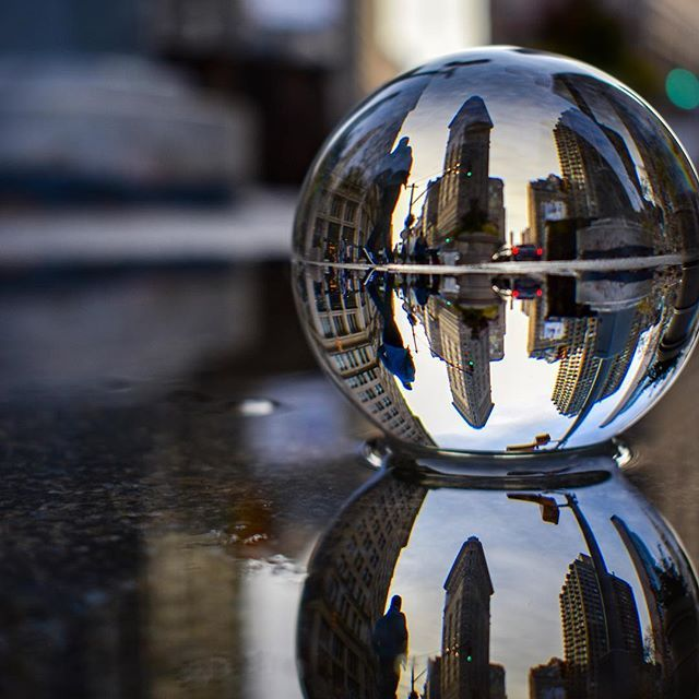 This photo is brought to you by 20 minutes spent crouching in a puddle in the middle of a busy sidewalk. This crystal ball thing is challenging but I'm pleased with the results of my first day out with it!