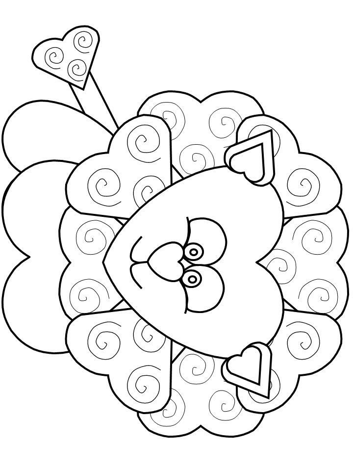 valentine coloring pages lion - photo#3