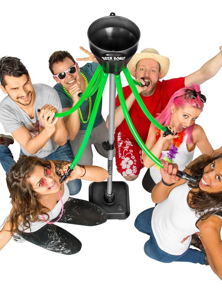 """Head Rush Beer Bong Bier-Bong Beerbong Bongzilla Bierstürzer Saufmaschine grün-schwarz 180cm, aus unserer Kategorie Junggesellenabschied/Bier Bongs. Mit dieser gigantischen Gruppen-Bierbong, genannt """"Bongzilla"""", können gleich 6 Partyhungrige Getränke jeglicher Art in Windeseile hinunterstürzen. Ein wirlich geniales Partyaccessoire, mit dem garantiert jede party zum unvergesslichen Erlebnis wird."""