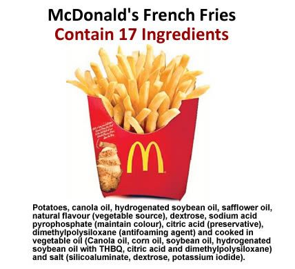 McDonald's Reveals 17 Foul Ingredients in Their French Fries – Including GMOs