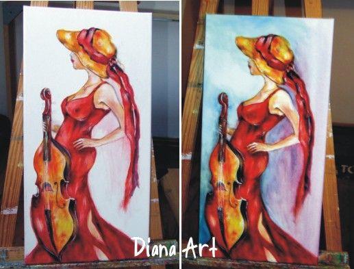 DIANA ART - DAMA W CZERWIENI - Januszewska (6251557397) - Allegro.pl - Więcej niż aukcje.