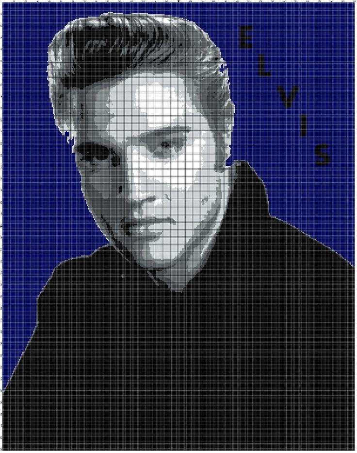 Elvis Afghan Crochet Graph Pattern By Alta's Crafts picclick.com