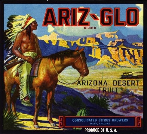 Mesa Arizona Ariz-Glo Orange Citrus Fruit Crate Label Art Print