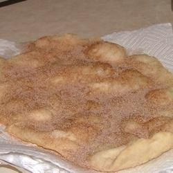 Just like the fairs and festivals!  You can make an entire batch for the cost of one from the fair!  Elephant Ears Allrecipes.com