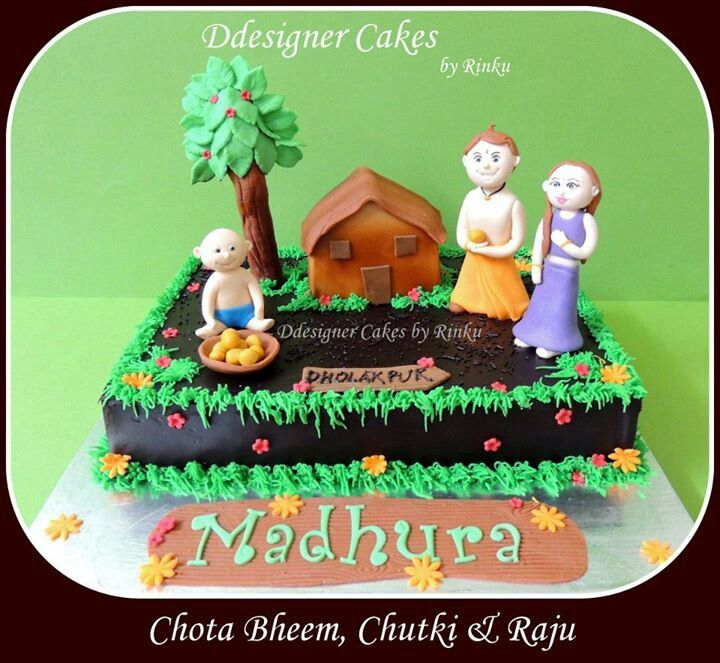 Birthday Cake Images Chota Bheem ~ Chota bheem cake by ddesigner cakes pinterest food and recipes