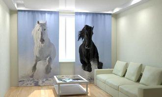 Фотошторы лошадиная стать
