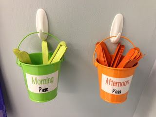 Bathroom Pass System.  Loves this idea and will definitely be using this in my classroom!