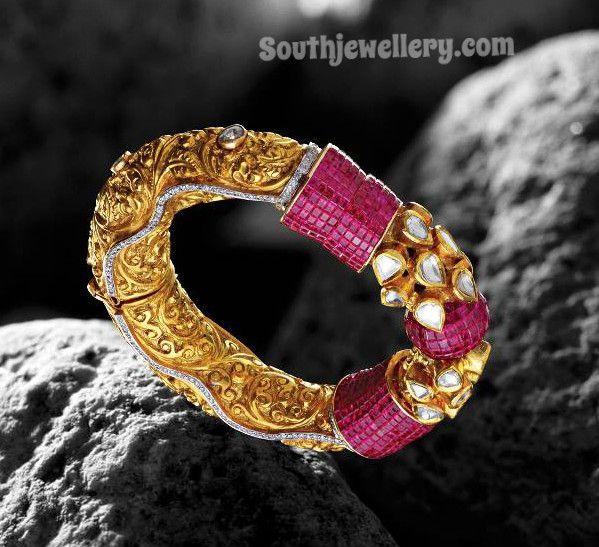Ruby Kundan Bracelet ~ Latest Jewellery Designs