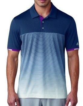 Polo de golf Adidas Climachill Gradient Stripe. Si entrenas al máximo, necesitas una equipación que te ofrezca el máximo confort.