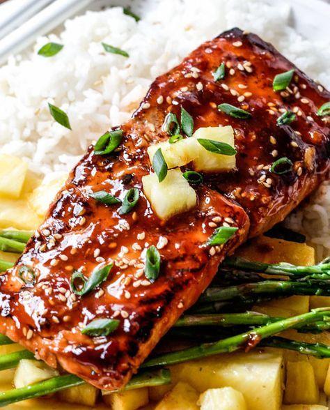 La petite sauce est vraiment juste trop bonne. C'est un des bons filets de saumon que j'ai mangé et la recette est très facile…