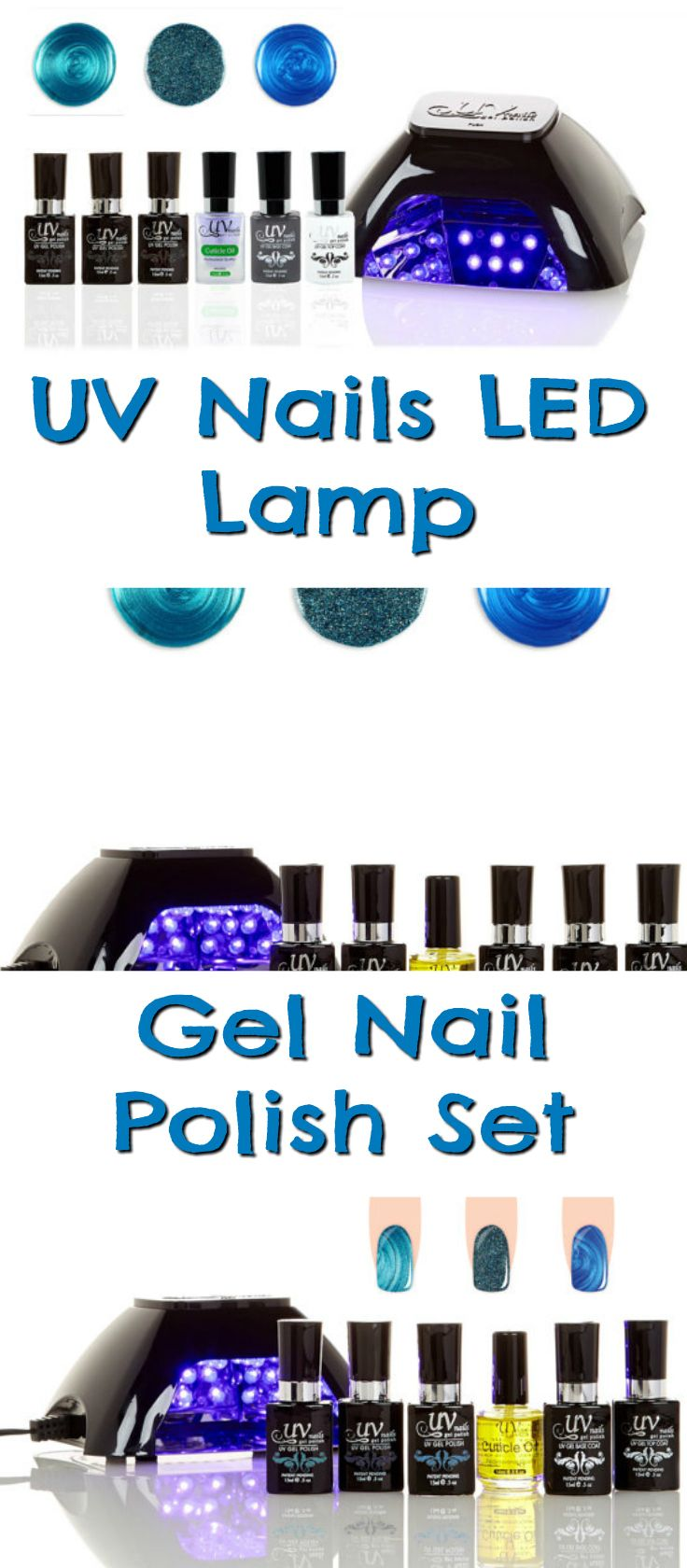 The UV nails LED lamp gel nail polish set is the best way to get salon looking nails without the huge price tag #afflink