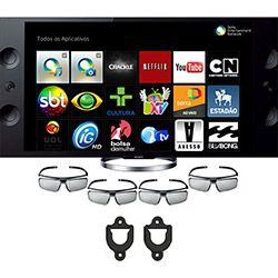 TV Sony 4K 55, 3D, LED, Smart TV, Motionflow 960hz, Triluminos, Magnetic Fluid Speaker + Suporte Universal Em ABS Preto - Indusat