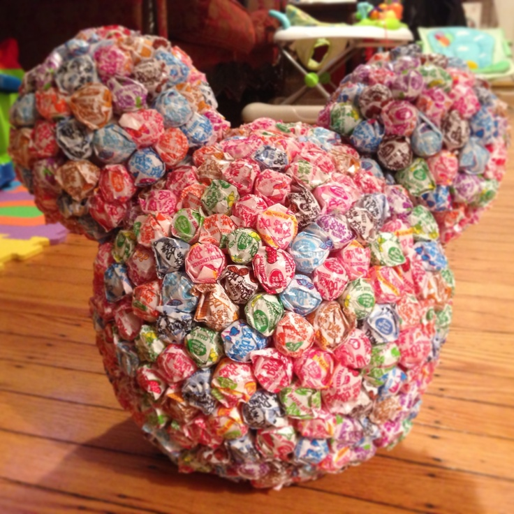 Mikey Mouse Head made up with Dum Dum Lollipops