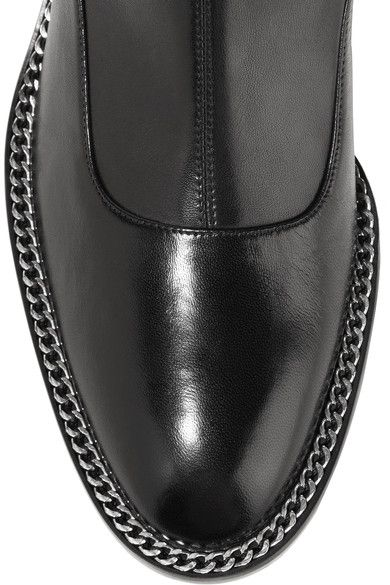 Givenchy - Chain-trimmed Over-the-knee Boots In Black Stretch-leather - IT40.5