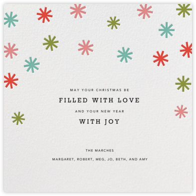 Petit collage holiday card confetti stars back paperless post