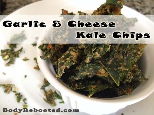 I could eat an entire pound of these garlic and cheese kale chips!