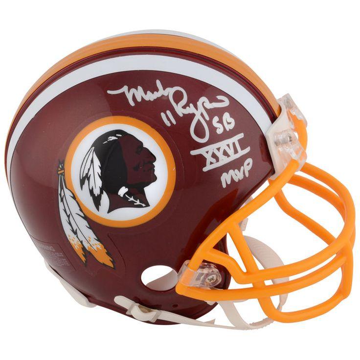 "Mark Rypien Washington Redskins Fanatics Authentic Autographed Riddell Throwback (1978-2003) Mini Helmet with ""SB XXVI MVP"" Inscription"
