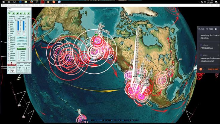 3/01/2017 -- Nightly Earthquake Update + Forecast -- Unrest spreads acro...