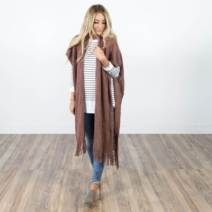 Nevaeh Scarf Cardigan in Mauve