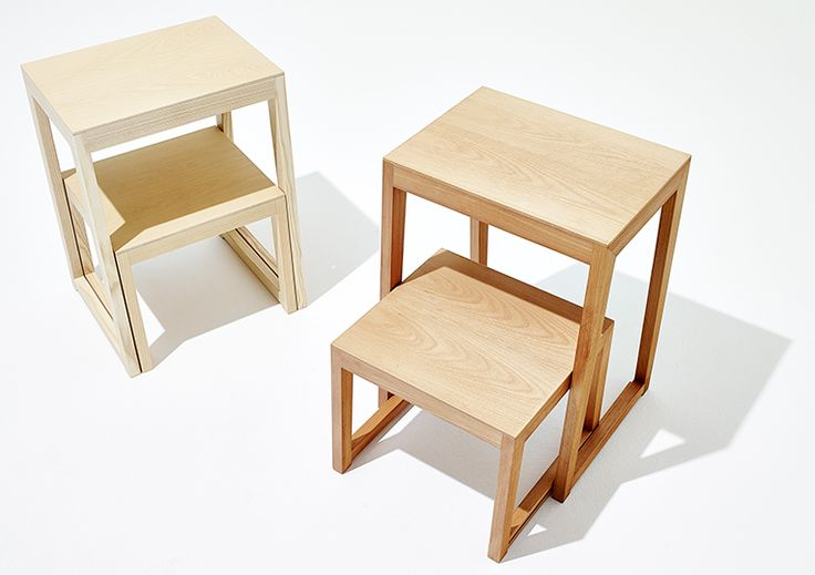 wooden step stool, step ladder THEO STEP by sixay furniture - solid wood design furniture