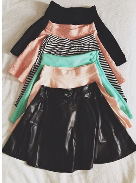 Skirts - they're cute but id probably never wear them