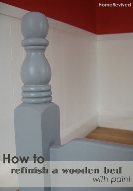 Home Revived: How to refinish a wooden bed.