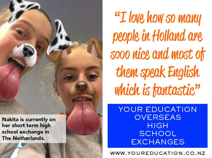 We are receiving great feedback from our students currently on their short term high school exchange! Here is a quote and picture we received from Nakita who is currently in The Netherlands on her exchange. Interested in going on our next departure? We are taking applications for 2017.