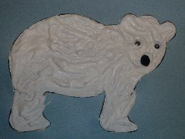 """Polar Bear, Polar Bear"" - bear made from shaving cream and glue - good for winter unit"