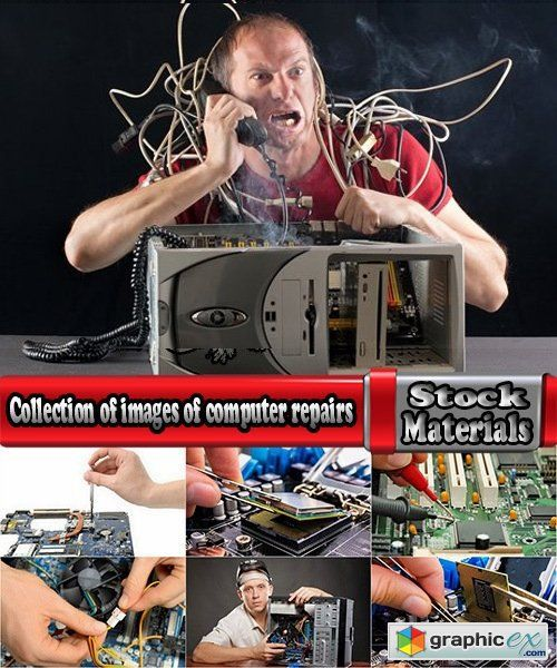 Collection of images of computer repairs 25 UHQ Jpeg  stock images